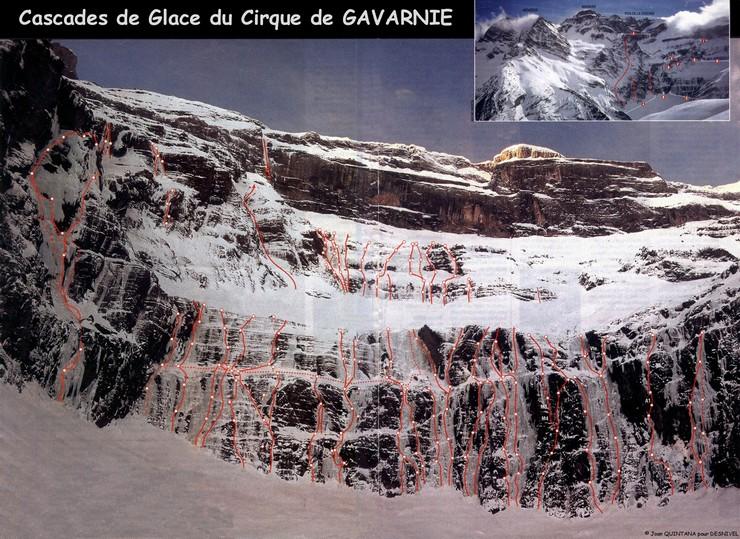 Topo cascade de glace ceillac webcam